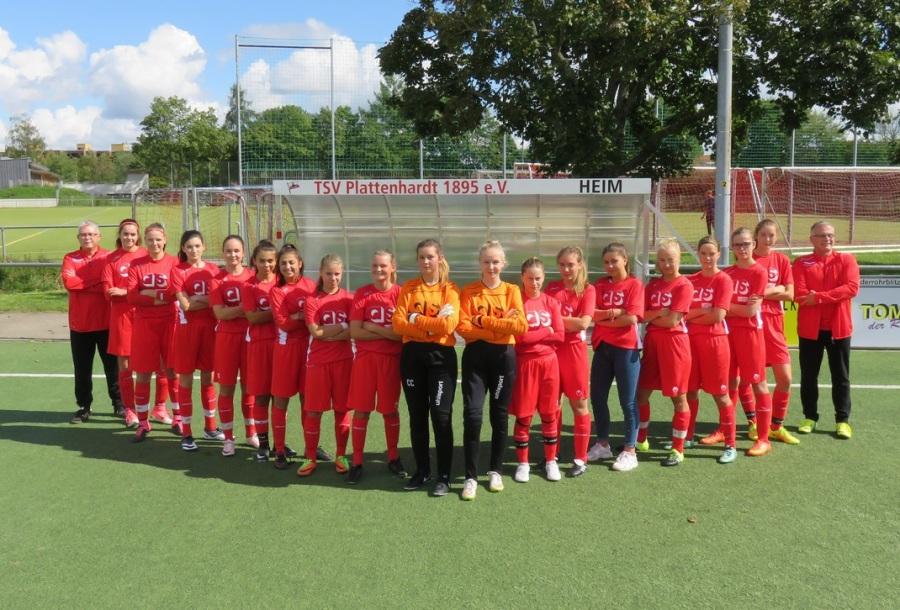Mädchenmannschaft mit AS Trikot