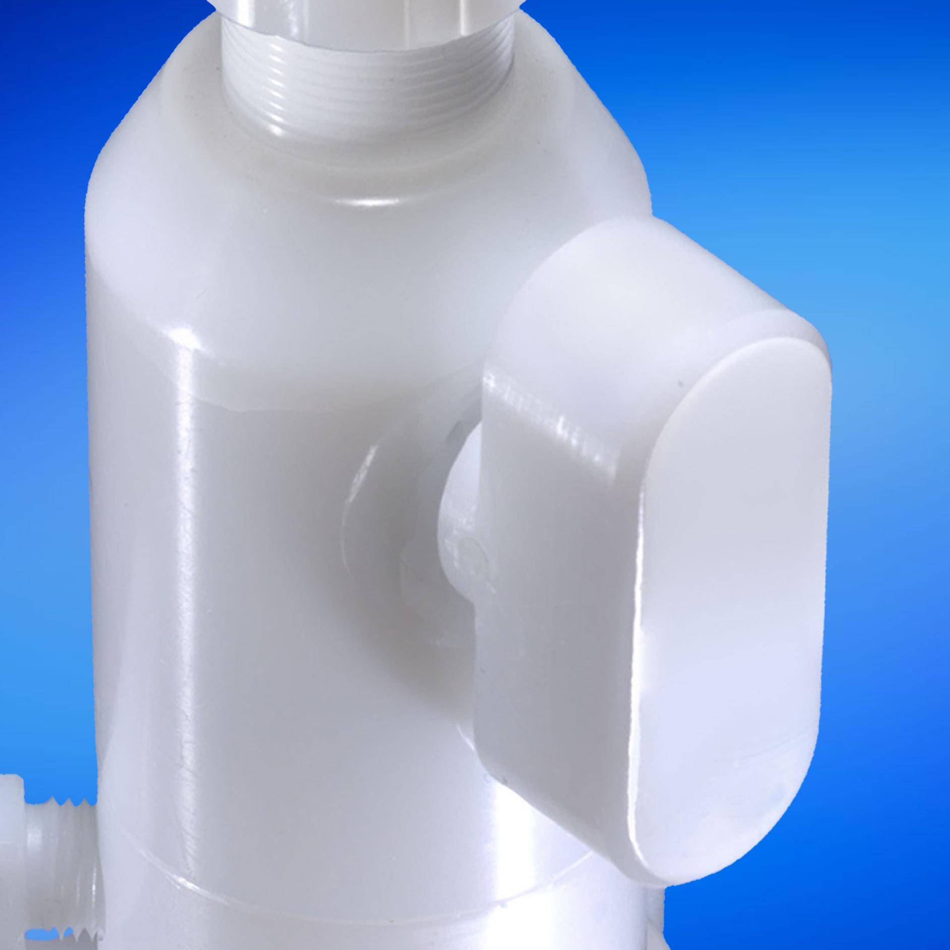 shut-off valves in the dispense heads