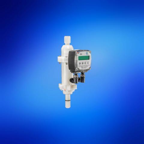 QC2 Entnahmekopf mit integrierter Volumenstrom-Messturbine