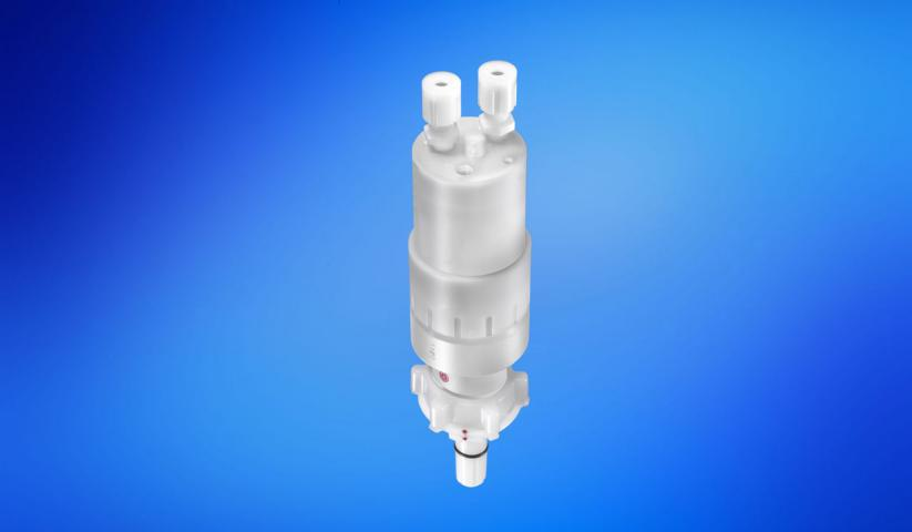 QC-M Dispense Heads with integrated membrane pump