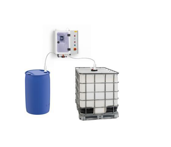 Pumpstation mit 2 Fässern