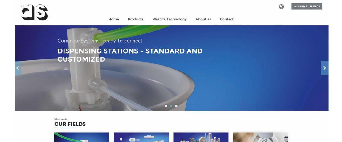 screenshot of new as website